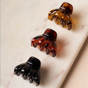 Accessories - Amber-Brown-Black Mini 3 piece Claw Clips /1 Pack
